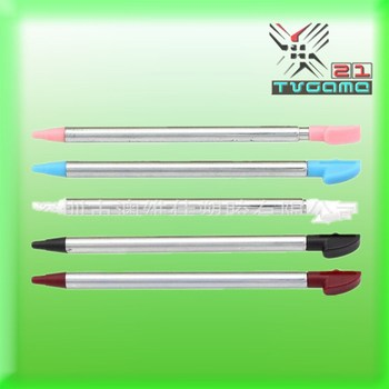 Wholesale 500Pcs/Lot  Metal Retractable Pen/ Touch Pen For 3DS XL For 3DSLL
