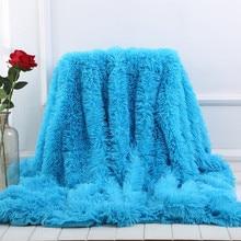 XC USHIO 2020 חדש מיטת ספה לזרוק שמיכת מצעים גיליון כיסוי המיטה בהיר צבע סופר רך ארוך שאגי חם חג המולד מתנה