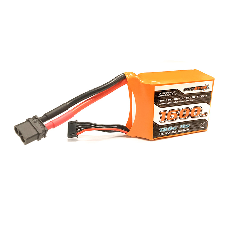 CNHL MiniStar Series Li-Po 1600mAh 14.8V 4S 120C Lipo Battery Pack With XT60 Plug For RC Boat Heli Airplane UAV Drone FPV RACING free customs taxes super power 1000w 48v li ion battery pack with 30a bms 48v 15ah lithium battery pack for panasonic cell