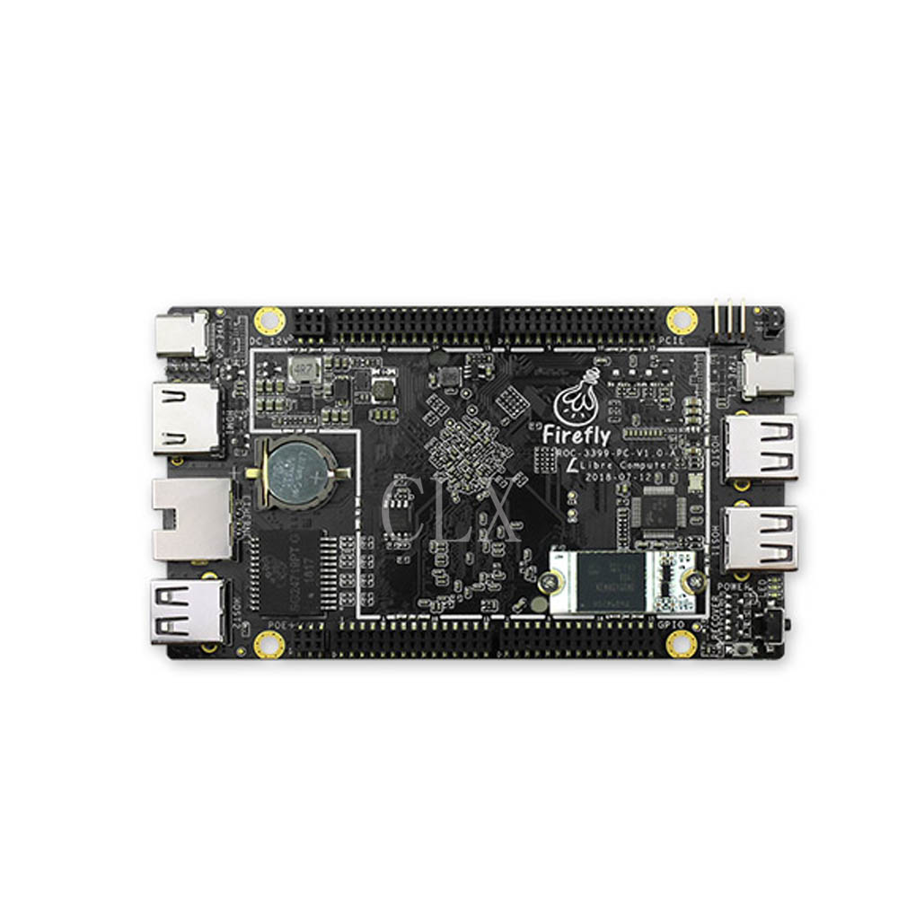 ROC RK3399 PC Based On Server-level ARM Cortex A72 Architecture, Run With Android 8.1 &Ubuntu 18.04, Support PD 2.0 & PO