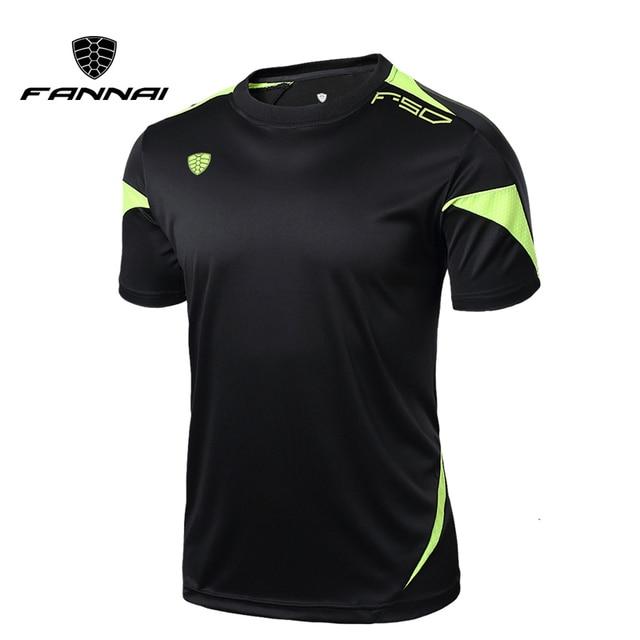 Fannai Мужская гимнастическая майка, рубашки для бега, быстросохнущая футболка для фитнеса, мужские топы, футболки, одежда, Майки с короткими рукавами, спортивная одежда для тренажерного зала