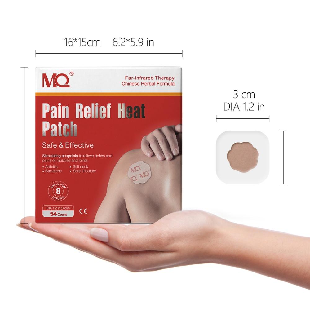 Patch chauffant anti-douleur points d'acupuncture stimulants sans drogue soulagement des douleurs et des douleurs pour le cou de la tête articulations de la hanche Muscle 54 plâtre