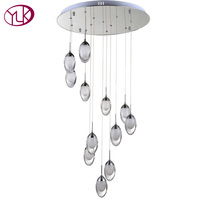 Youlaike Modern LED Chandelier Lighting For Living Room Spiral Design Restaurant Hanging Light Brief Home Decoration