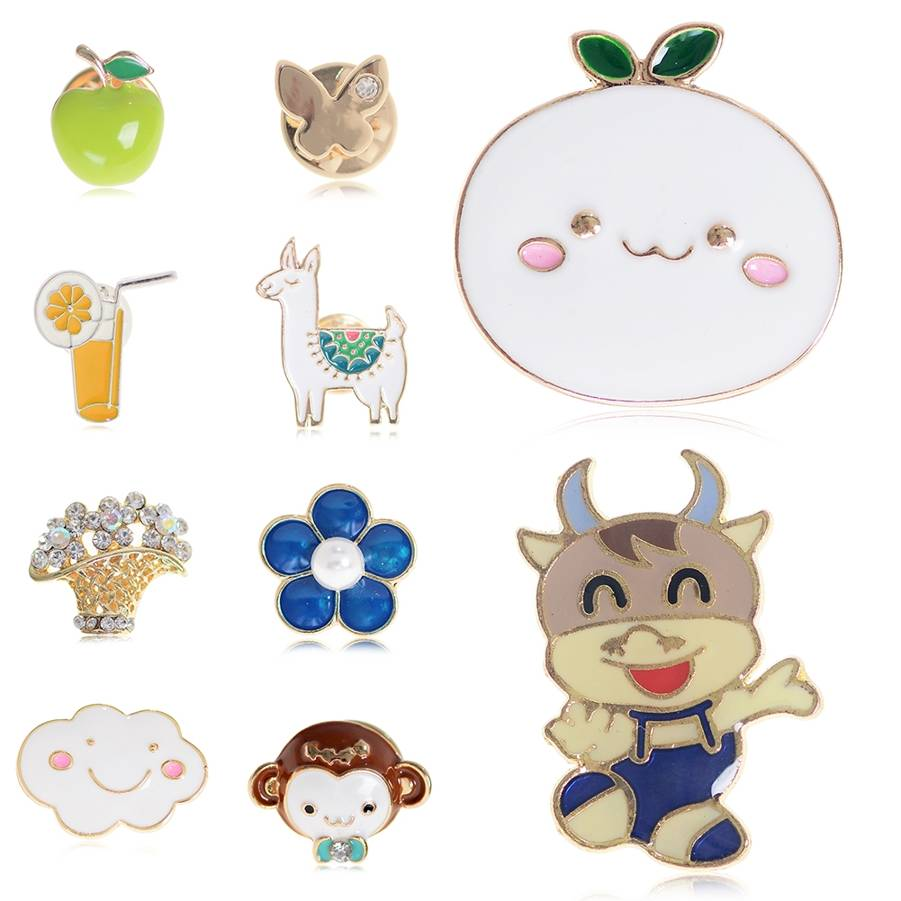 1PC Cartoon Animal enamel pins Flower Monkey Wedding Bridal Bouquet Brooch Pin Breastpin For Clothing Hat Backpack Scarf in Brooches from Jewelry Accessories