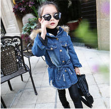 HOT 2016 high quality Qiu dong season new cowboy cotton padded jacket fashion Thickening and velvet