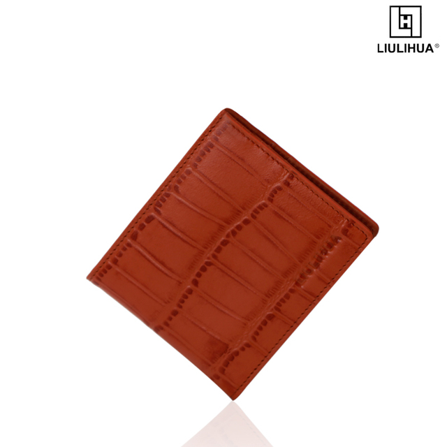 LLH brand men leather bifold wallet