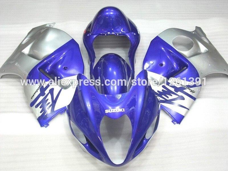 Инъекции для SUZUKI hayabsa GSXR1300 GSX-R1300 синий/Серебряный U53224 GSXR 1300 96 97 98 99 00 01 02 03 04 05 06 07 обтекатель