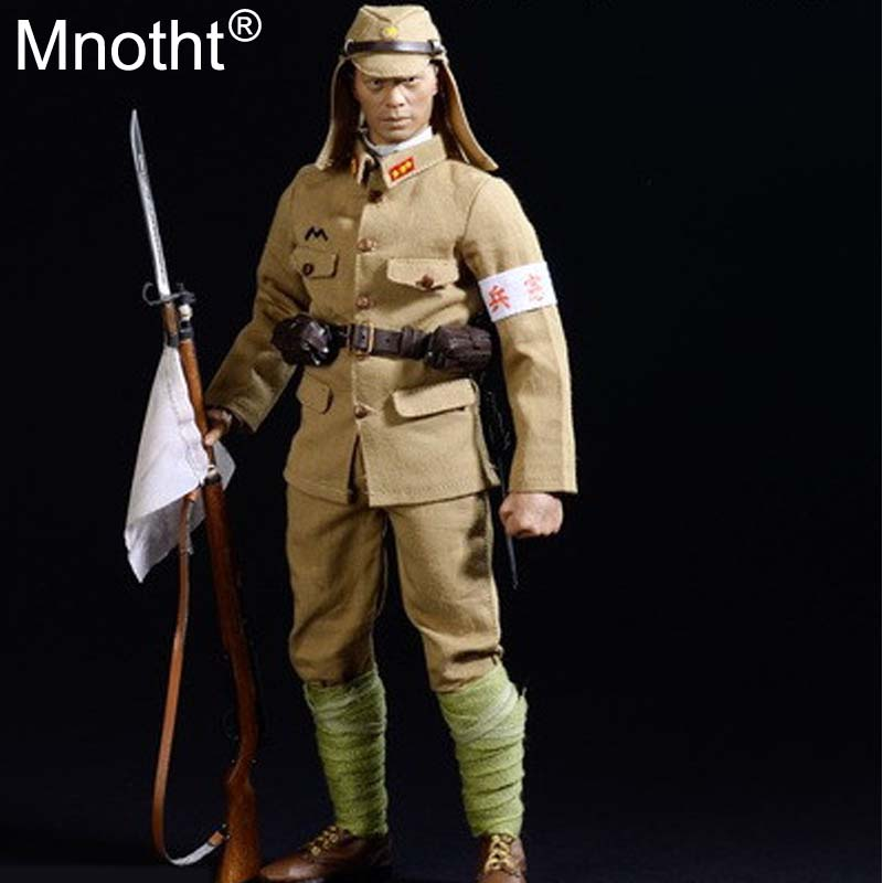 цена на Mnotht 1/6 Soldier DID DML SS Japanese army of WW II Military police Suit Male Solider Clothes For 12in Action Figure Toys mo