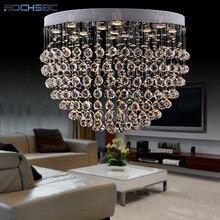 BOCHSBC K9 Crystal Chandelier Lighting Fixture Ceiling LED Round Shape Suspension Hanglamp Living Room Light Dimming lustre Lamp все цены