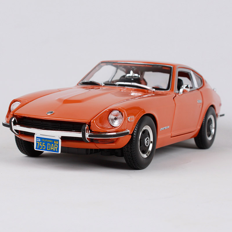 Maisto 1:18 1971 Datsun 240z orange blue car diecast for nissan 225*90*68 classic motorc ...