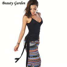 Beauty Garden 2017 Women Summer Autumn Sexy Fashion Camis Tops Female Solid Black Casual Sleeveless Tops Evening Party Club Tops