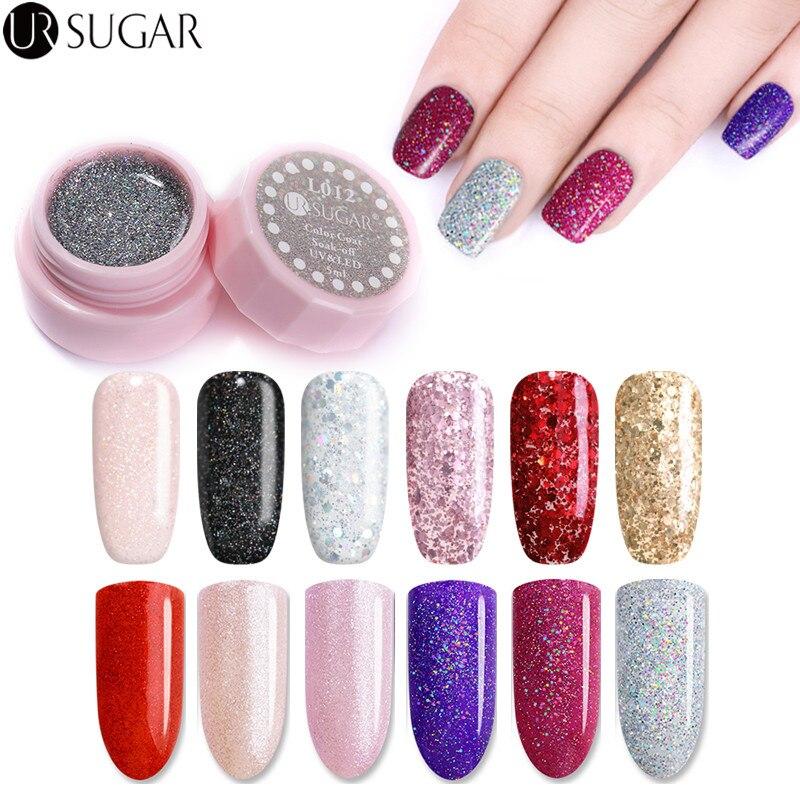 UR SUGAR 15ml Pure Nail Color Gel Polish Pink Soak off