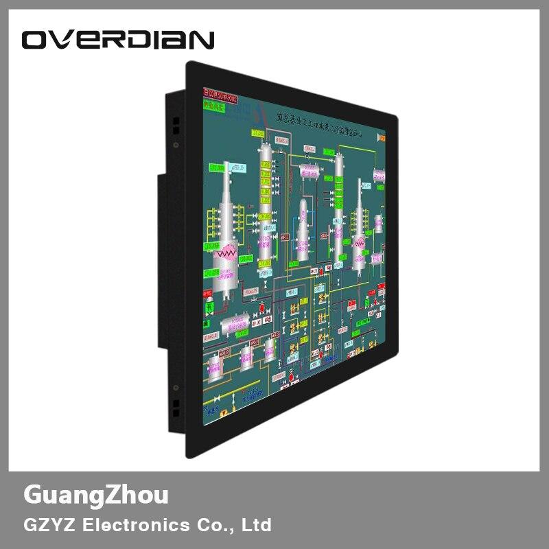 19 VGA/USB/DVI Interface Métal Cadre Industriel Lcd Moniteur à Écran Large 1440*900 Résistance tactile écran Boucle Fixe Affichage