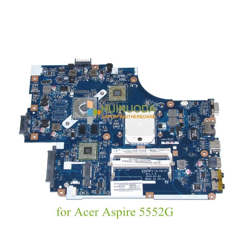 NOKOTION NOKOTION NEW75 LA-5911P MBWVE02001 MB.WVE02.001 For acer aspire 5552g Motherboard ATI HD nokotion nokotion new75 la 5911p mbwve02001 mb wve02 001 for acer aspire 5552g motherboard ati hd