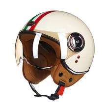1 PC Vintage Riding Helmet Open Face Half Helmet Casque Motocross Motocycle Equipment Auto Car Accessories Winter Summer M L X