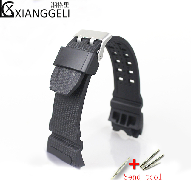 138f185097bf Watch accessories For Casio black watch straps resin G-SHOCK GWG-1000-1A A3  A9 1A5 GB DC Men s sports casual fashion strap