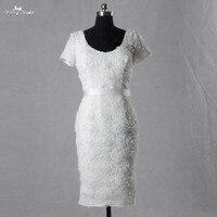 LZF020 우아한 흰색 짧은 댄스 파티 드레스 여성 정장 드레스 진짜 그림 사용자 정의 만든