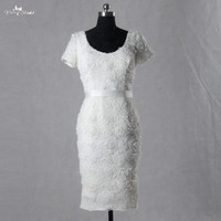 LZF020 Elegant White Short Prom Dresses Women Formal Dress Real Picture Custom Made