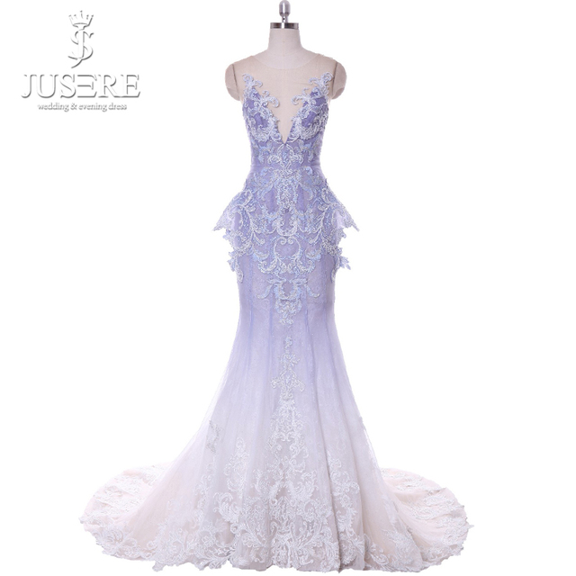 Deep V neckline Sleeveless Mermaid Open Back Elegant Occasion Formal Gown  Lavender Light Purple Long Evening Dress 2018 Fading 79be4d555299