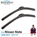"""Limpiaparabrisas para Nissan Note 2006-2013 24 """"+ 13"""", conjunto de 2, el Mejor Limpiaparabrisas"""