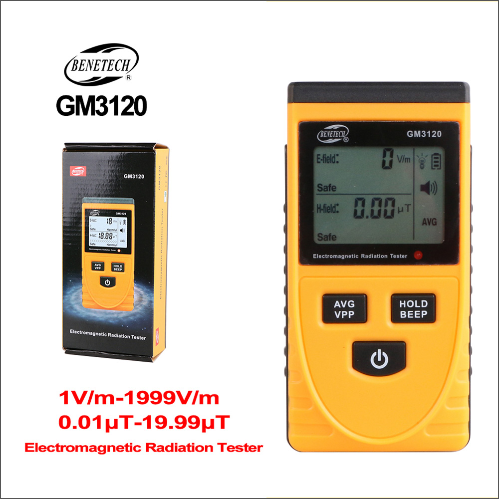 BENETECH Electromagnetic Radiation Dosimeter Meter Detector Emf Meter Handheld Geiger Counter Electric Field Emission Tester