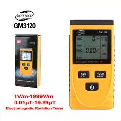 Benetech medidor de dosímetro radiação eletromagnética detector medidor emf handheld geiger contador testador emissão campo elétrico