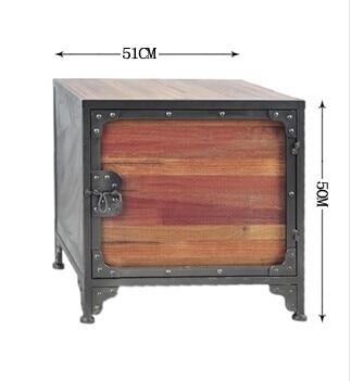 US $401.2 32% OFF|Die dorf von retro möbel, Vintage metall Schrank, anti  rost behandlung, küche schrank, nachttische, mehrzweck möbel in Die dorf ...