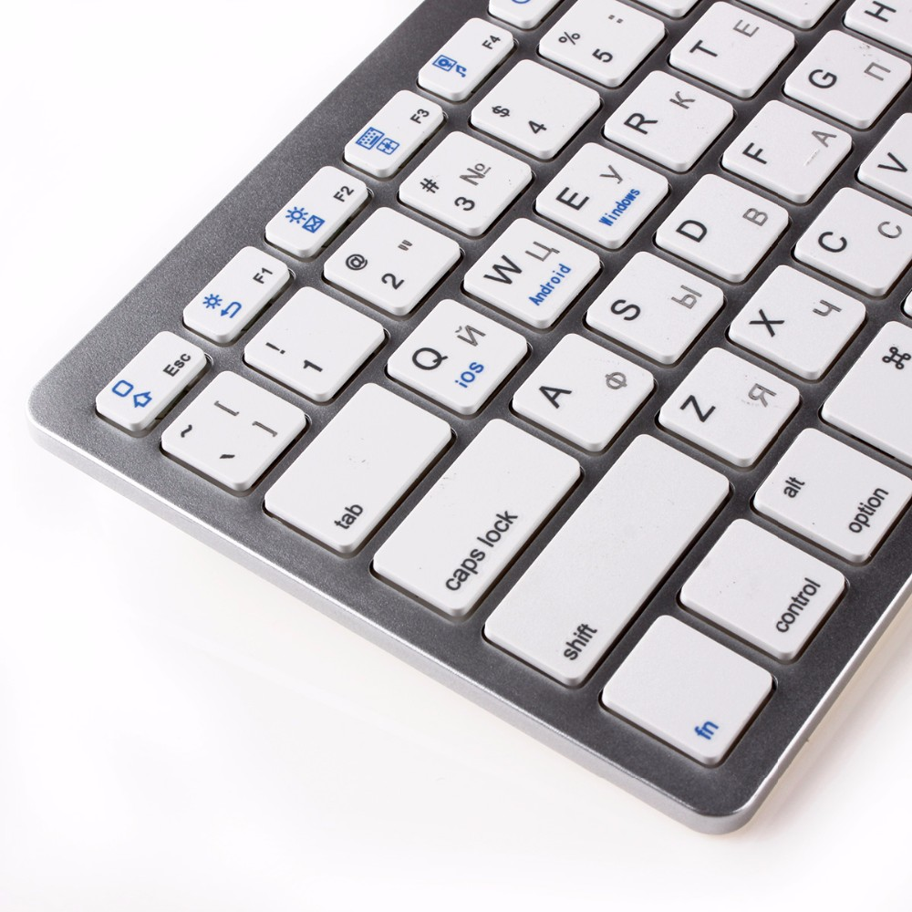 kemile Russian Wireless Bluetooth 3.0 keyboard untuk Tablet Laptop - Periferal komputer - Foto 4