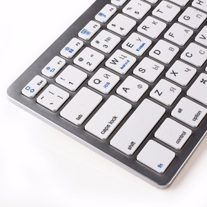 Image 4 - kemile Russian Wireless Bluetooth 3.0 keyboard for Tablet Laptop Smartphone Support iOS Windows Android System Silver and Black