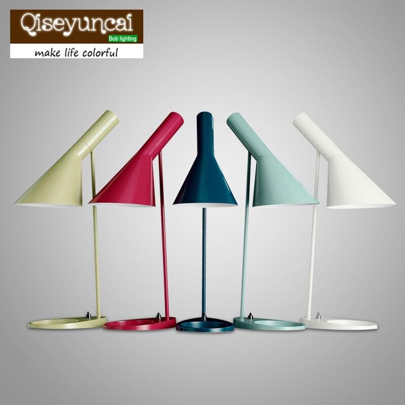 Replica Louis Poulsen Arne Jacobsen Table lamp 5 colors for option Europe AJ Desk Lamp Cafe Aisle Hall  LED bulb E27 read Lamps литой диск replica legeartis concept ns512 6 5x16 5x114 3 et40 d66 1 bkf