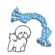 The new pet supplies, training tools, chew toys, three cotton rope woven bone, resistant to bite clean teeth, bright colors
