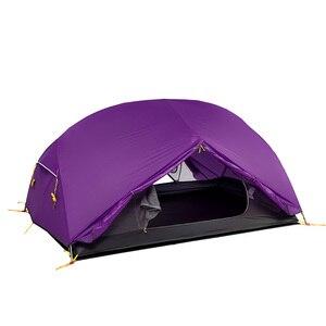Image 2 - Naturehike Mongar 2 Personen Camping Zelt 20D Nylon Fabic Doppel Schicht Wasserdichte Zelt für 3 Jahreszeiten NH17T007 M
