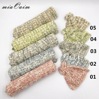 5Sets in A Lot Wrap+Hat Full Set Stretch Knitted Rayon Wrap Newborn Photography Props Baby Kids Receiving Blanket Basket Filler