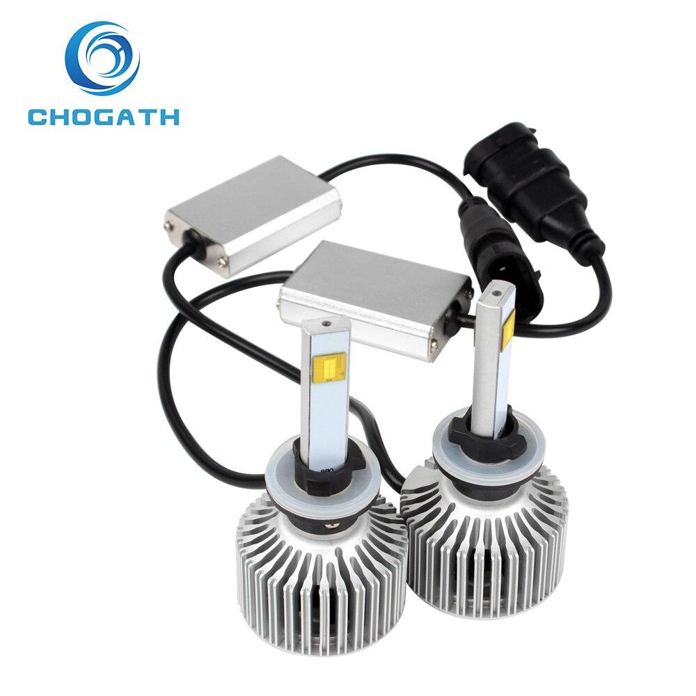 ФОТО ChoGath(TM) Version of X7 LED Headlight Car Styling 40W/Each Bulb 880 6000K 3600Lm Super Bright All-in-one
