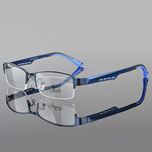 Фотография SALUTTO Spectacle Frame Eyeglasses Silhouette Men Computer Optical Glasses metal Frames For Male Transparent Armacao Oculos de