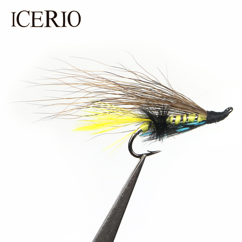 Free Postage Size 10 for Fly Fishing 6 Blue Charm Salmon Sea Trout Flies