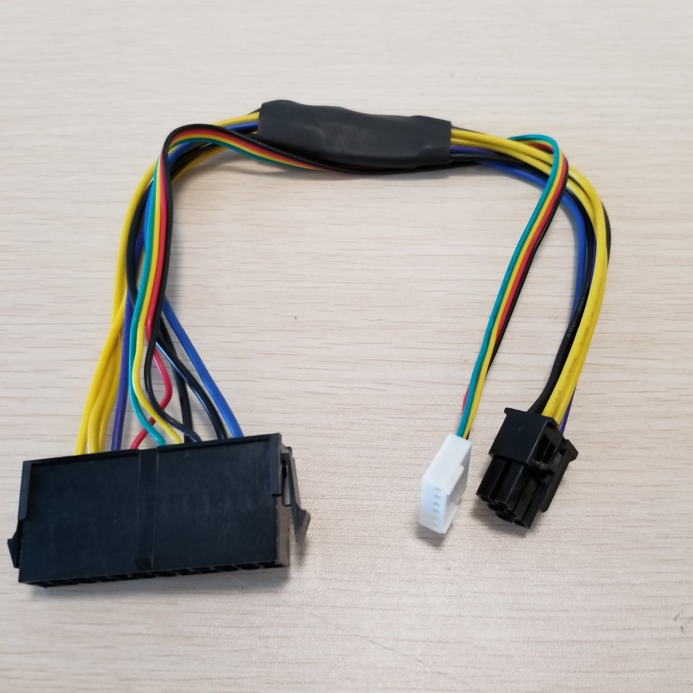 10pcs/lot ATX PSU Power Supply Cable 24P to 6P for HP Z220 Z230 SFF Mainboard Server Workstation M3K5 цена