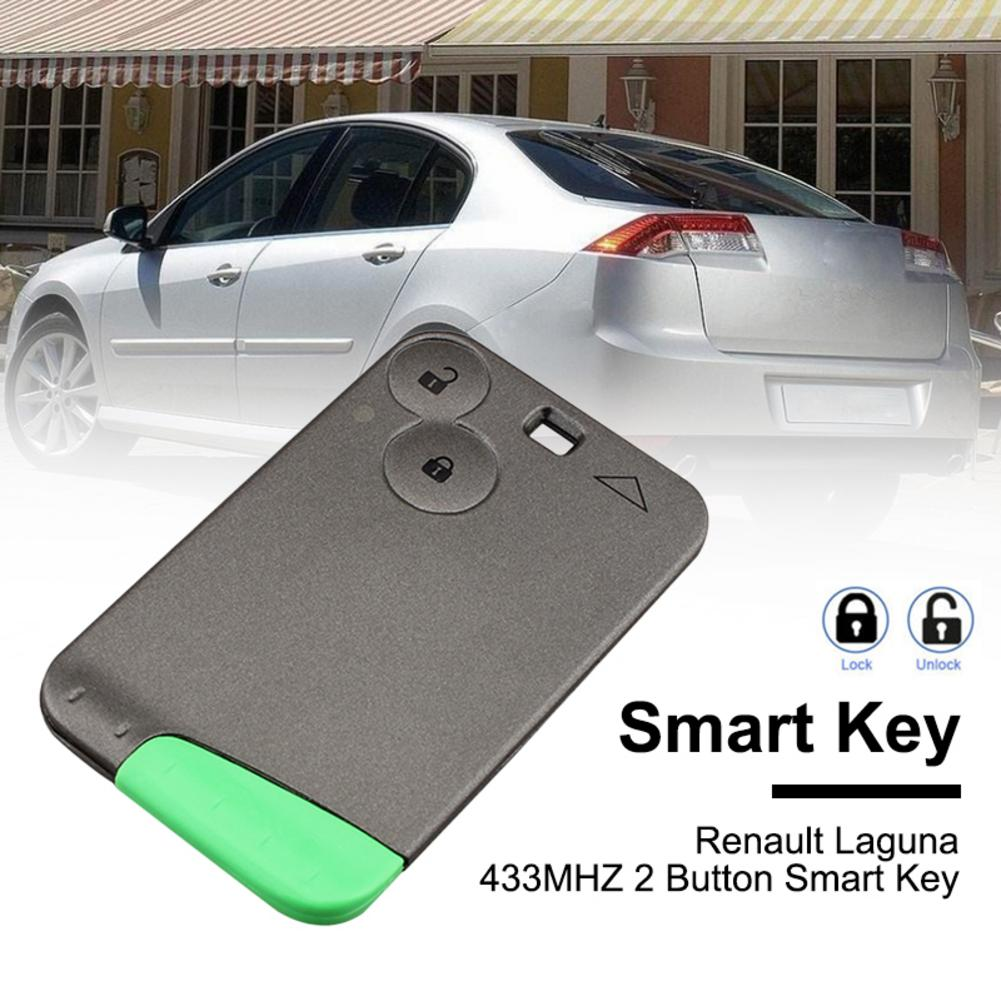 2 Buttons Smart Remote Key PCF7947 Chip 433 Mhz For Renault Laguna Espace 2001 To 2006 Smart Card Remote Fob