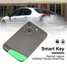2 Buttons Smart Remote Key PCF7947 Chip 433 Mhz For Renault Laguna Espace 2001 To 2006 Card Fob