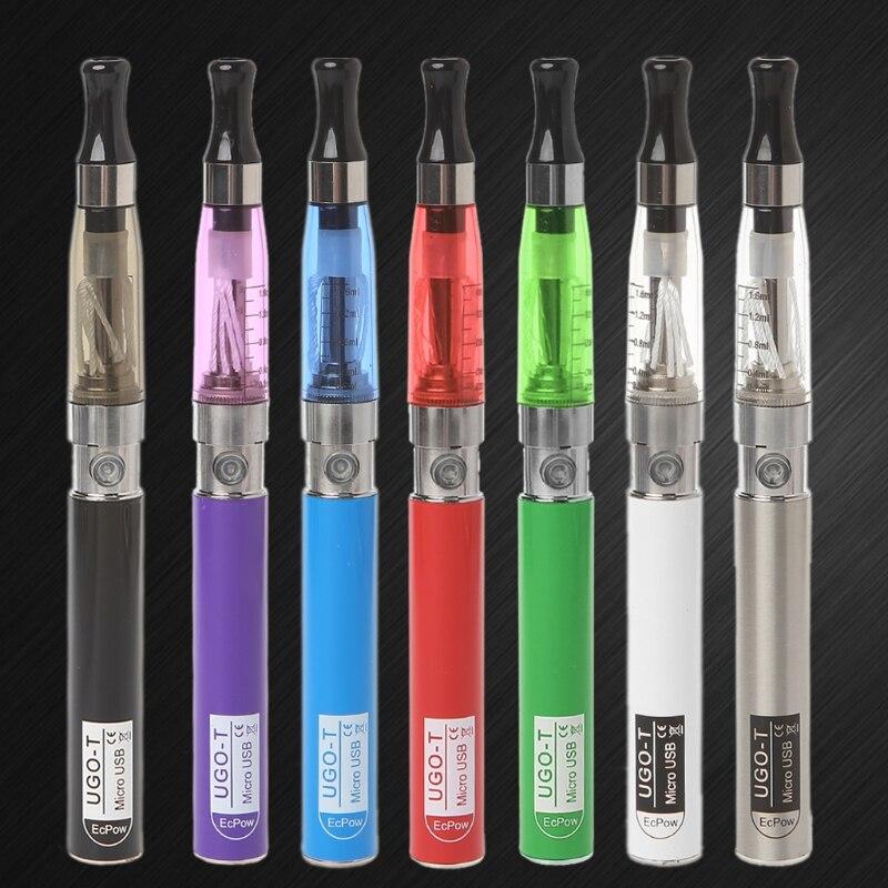 2x Pen Battery 2x charger ego-t 510 fits ce3 ce4 Black 650mAh