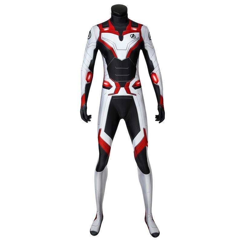 Avengers Endgame Quantum Realm Jumpsuit Cosplay Costume Bodysuit Zentai Suit Cos