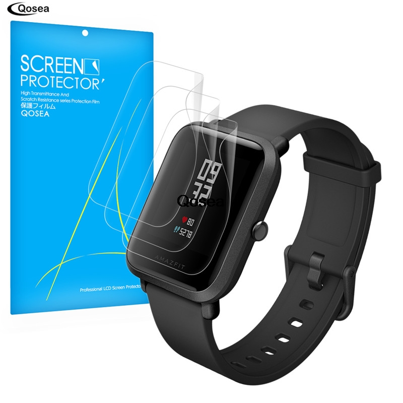 (3 PAKET) Qosea Für Xiaomi Huami Amazfit Bip BIT TEMPO Lite Smart Displayschutzfolie 3X Ultra Clear LCD Guard Shield Abdeckung haut
