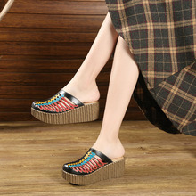 Female Closed Toes Hollow Out Handmade Slippers