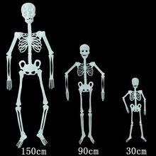 30/90/150cm świecący szkielet dekoracja na imprezę halloweenową Funny Noctilucent Ghost Bone 2020 Halloween Decor na artykuły domowe