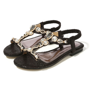 Image 2 - BEYARNESize 34 45 Retro Bohemian รองเท้าแตะเพชรสำหรับสตรี Retro ลูกปัด Serpentine สบายๆรองเท้าแตะสำหรับ womenE543