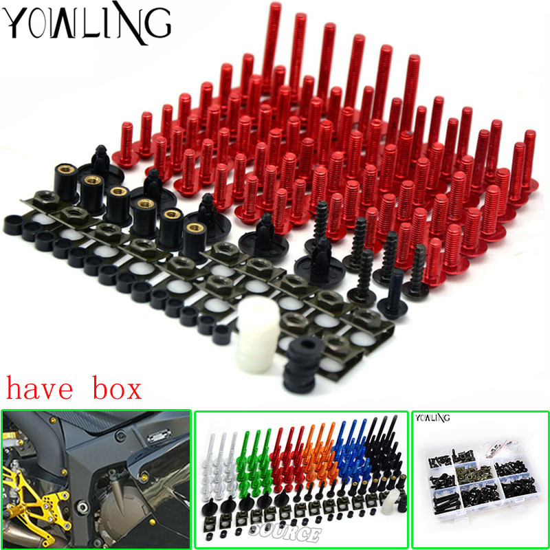 Motorcycle Scooters Fairing Body Work Bolts Nuts Spire Speed Fastener Clips Screw for ducati 1098 S 899 Panigale 1199 1299 1198 new universal brand motorcycle accessories fairing body work bolts screws for suzuki m109r boulevard ducati diavel the devil