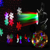 LED Star Laser Projector Christmas Lights Outdoor 10 Patterns Halloween Snowflake Led Stage Effect RG Shower