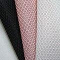 1 ярд Новый Французский Повседневная Одежда Сетка 3D Гексагональной Высокое Качество Дышащий Белый Обувь Ткань Швейная Черный Чистая Ткань