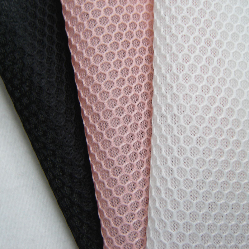 1 yard New French Casual Apparel Mesh Fabric 3D Hexagonal High Quality Breathable White Footwear Net Cloth Sewing Black Tissu