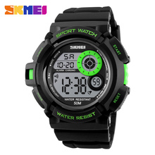 SKMEI sports watches for running mens digital watches LED Outdoor Military Running Army watches electronic swimming watch Hot cheap Plastic 20cm 5Bar Buckle ROUND 22mm 17mm Acrylic Complete Calendar Shock Resistant Stop Watch LED display Week Display Water Resistant